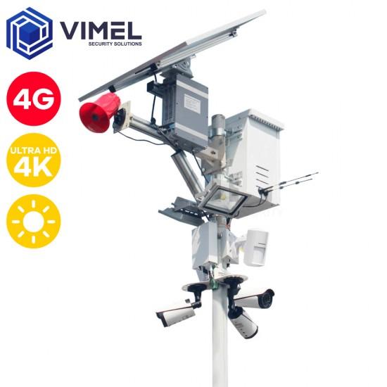 4G Solar 360 Security Alarm System Camera 4K