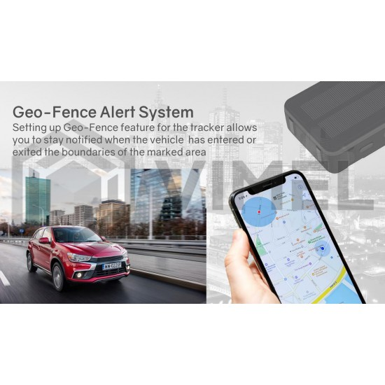 4G GPS Solar Tracker Real time Vehicle Monitoring