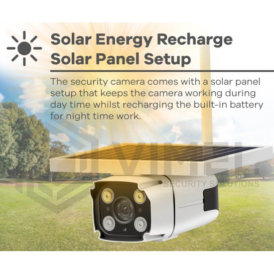 4G Solar Powered Security Camera Flood Light