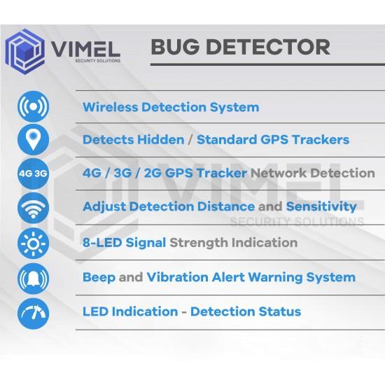 Professional GPS Tracker Bug Finder Detector