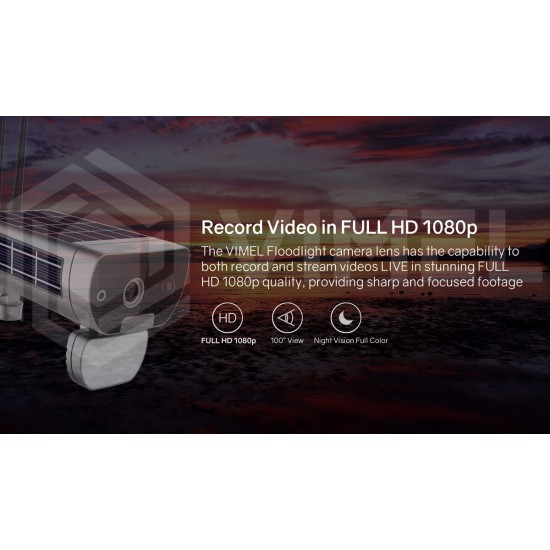 Wireless Home Security Solar Powered Camera