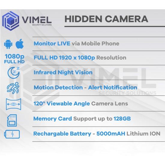 Wireless Power Bank Hidden Camera Night Vision