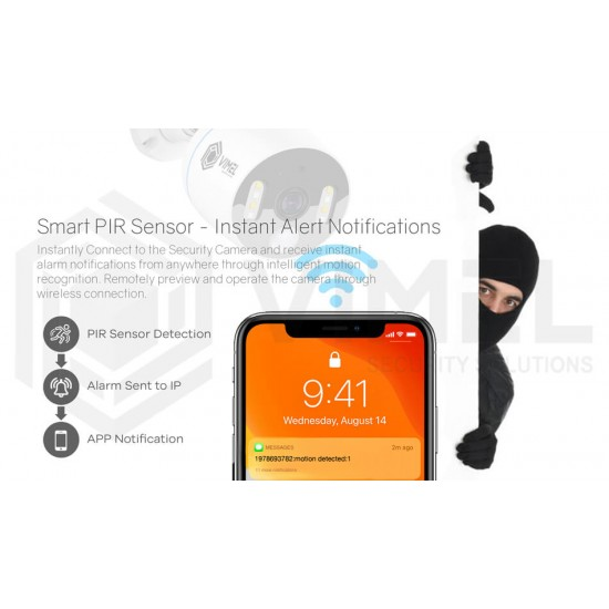 Wireless Human Detection Security Camera System