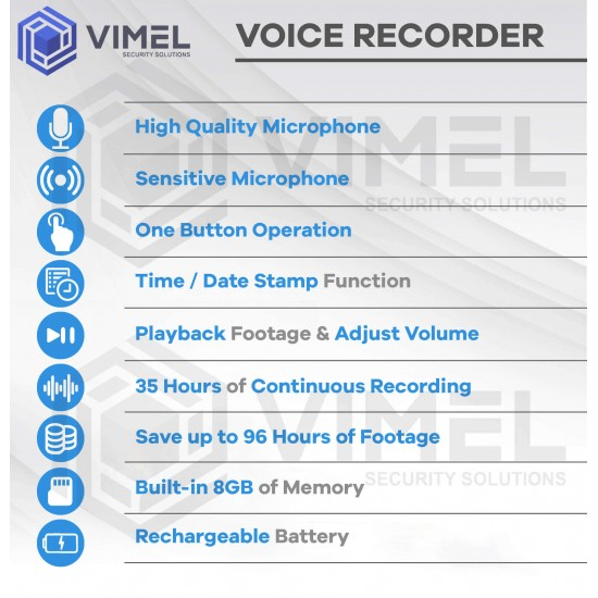 Thinnest Voice Activated Voice Recorder