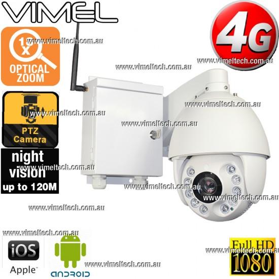 4G Security Camera GSM PTZ Contruction Camera Optical Zoom