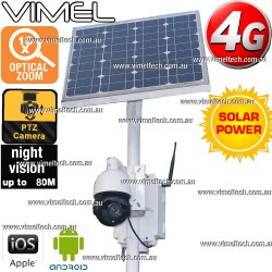 4G Construction Camera Farm Solar PTZ Live Video Stream