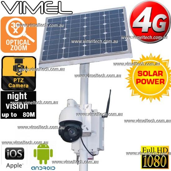 4G Construction Camera Full HD 1080P Security Farm Solar Optical 30X PTZ