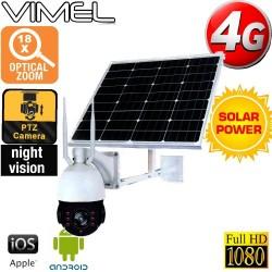 Construction Camera SIM Card Security 4G Solar PTZ Live View Streaming