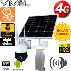 4G Security Camera 2 Ways Audio SIM Card Solar Live Streaming 3G