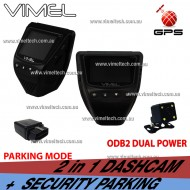 Dashcam Twin Dual Camera GPS Taxi Uber Security Parking Guard