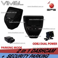Dashcam Twin Dual Camera GPS Taxi Uber Security Parking Guard