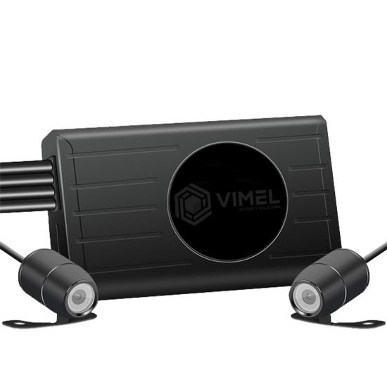 VIMEL GPS Motorbike Dual WIFI Camera