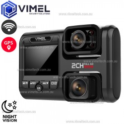 Vimel Professional 4K Dual WIFI GPS Dash Camera Night Vision
