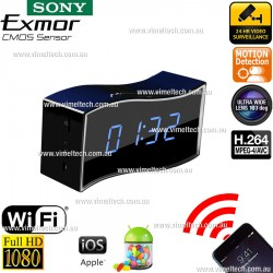 Spy Camera 1080P Wireless Clock with Night Vision