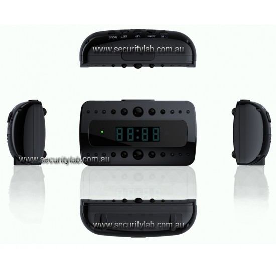 Nanny Hidden Spy Security Clock Camera Covert with Motion Detection and night Vision