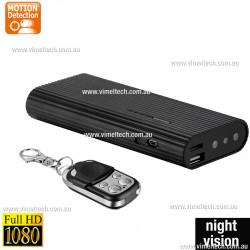 Hidden Camera 1080P Power Bank Spycam night vision