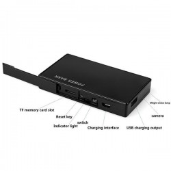 Covert Spy IP Camera WIFI powerbank motion detection
