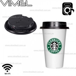 Spy Camera Hidden IP Coffee Cup Night Vision