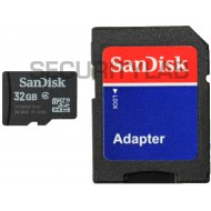 SanDisk 32GB Class 4 Micro SD Memory Card and Adaptor