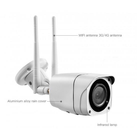 VIMEL 4G WIFI 5Mpx Outdoor Security Camera 2K ULTRA HD