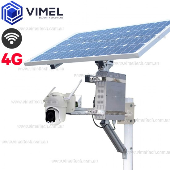 4G Solar Powered 3G WIFI PTZ Outdoor Surveillance Camera