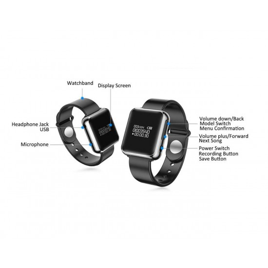 Hidden Digital Watch Voice Recorder for Evidence & Anti-Bullying